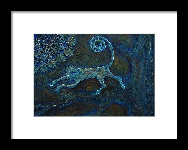 Collage Framed Print featuring the painting Tree Monkey by Lou Cicardo