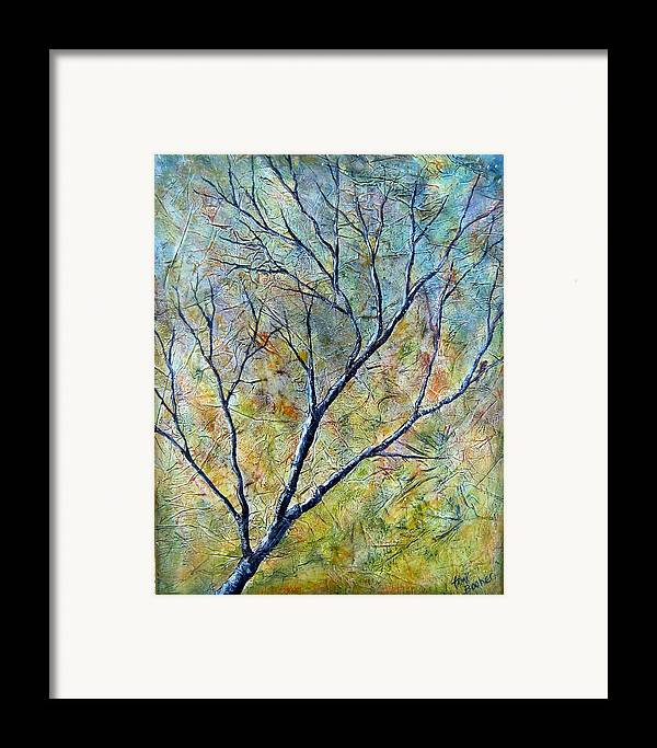 Framed Print featuring the painting Tree Number One by Tami Booher