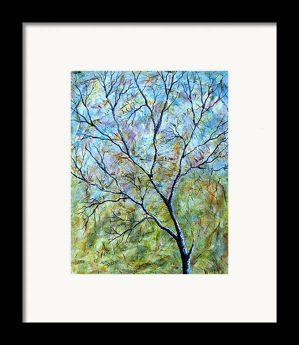 Framed Print featuring the painting Tree Number Two by Tami Booher