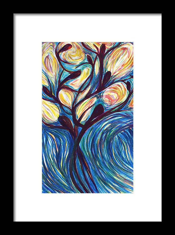Bible Framed Print featuring the painting Tree Of Life by Cory Calantropio