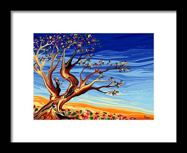 Tree Framed Print featuring the digital art Tree Of Life by Robin Monroe