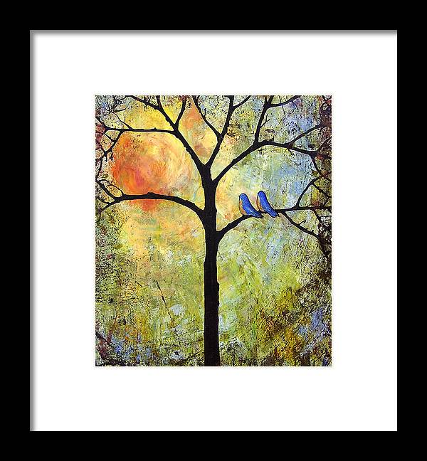 Tree Framed Print featuring the painting Sunshine Tree of Life by Blenda Studio