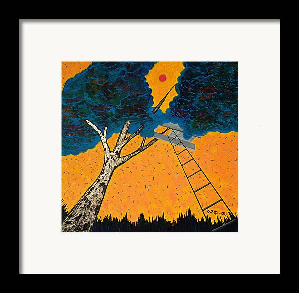 Treehouse Framed Print featuring the painting Treehouse by Randall Weidner