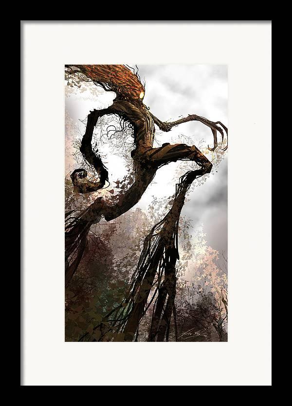 Concept Art Framed Print featuring the digital art Treeman by Alex Ruiz
