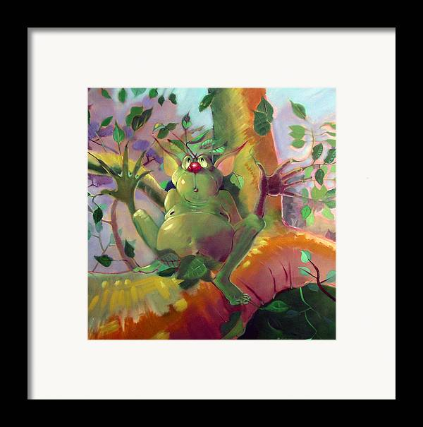Fantasy Framed Print featuring the painting Treeman by Patrick McClintock