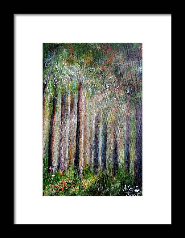 Framed Print featuring the painting Trees 2 by Anthony Camilleri