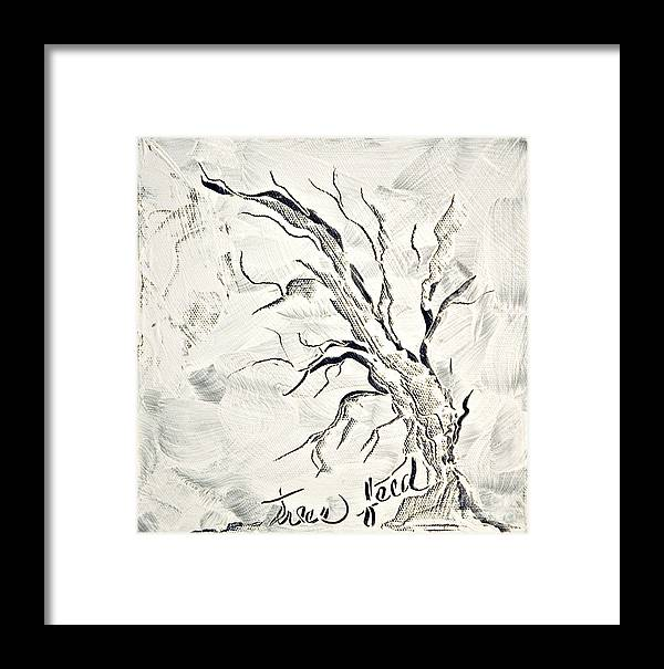 Tree Framed Print featuring the painting Trees Feed by Jacqueline Milner