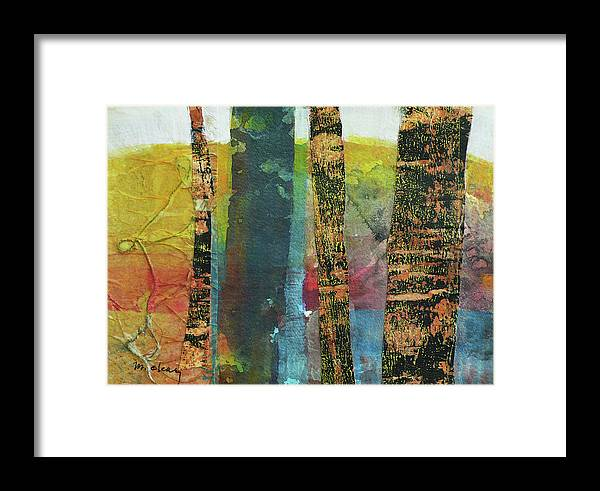 Trees Framed Print featuring the painting Trees by Melody Cleary