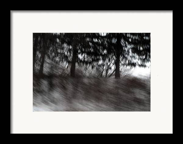 Abstract Landscape Framed Print featuring the pyrography Treescape by David Hickey