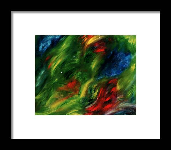 Abstract Framed Print featuring the painting Trepidation De La Vie by Dominique Boutaud