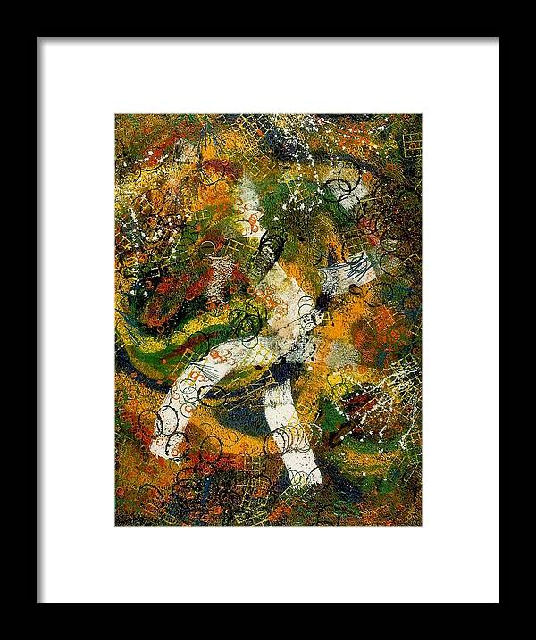 Abstract Framed Print featuring the painting Tres Distingue by Dominique Boutaud