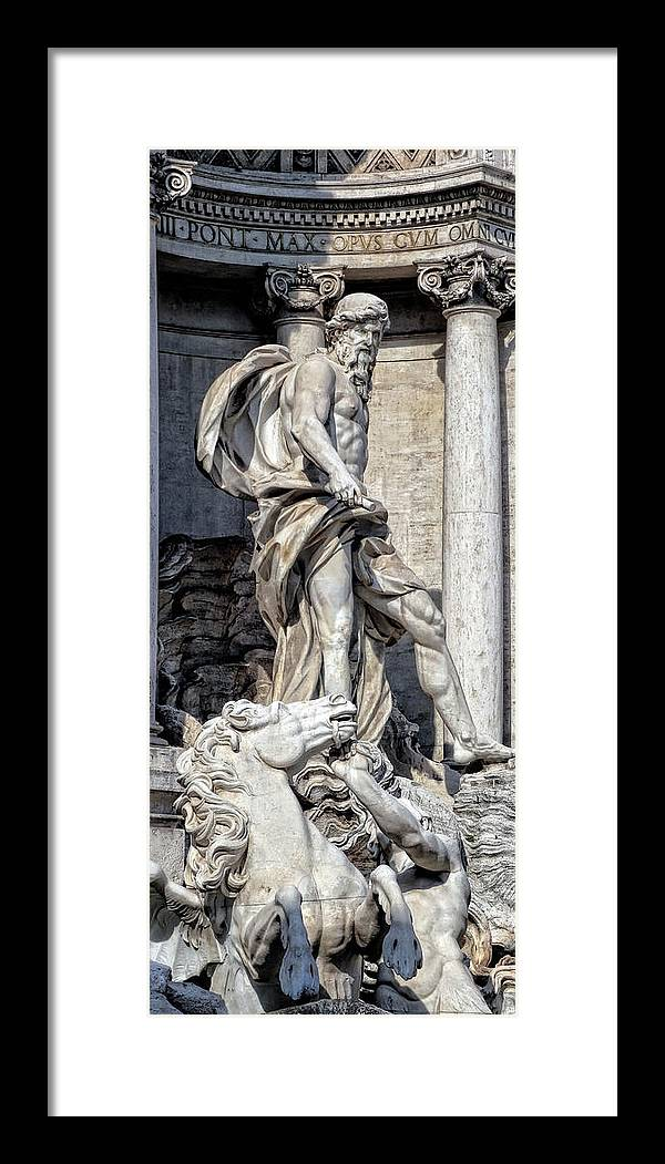 Fountain Framed Print featuring the photograph Trevi Fountain - Rome by Daniel Hagerman