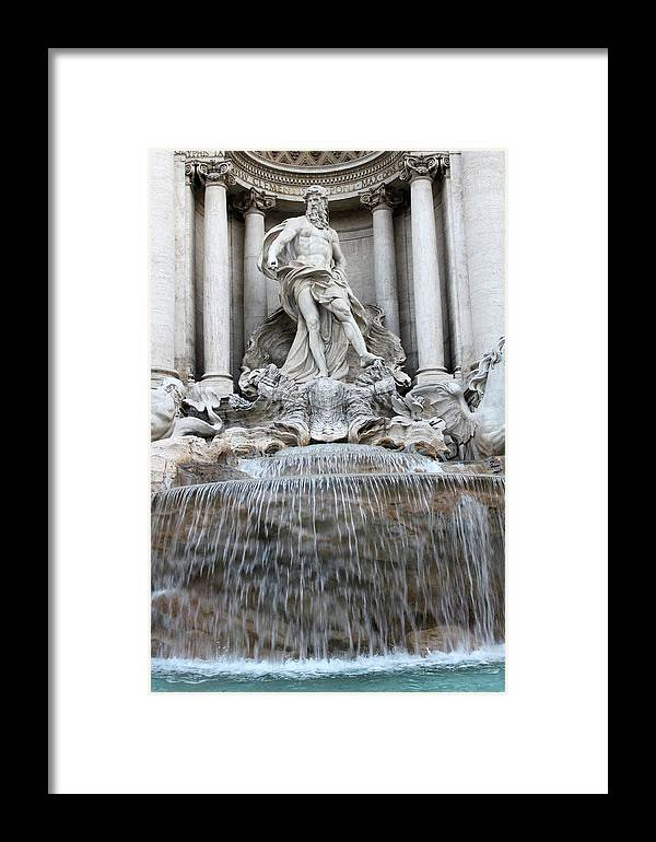 Trevi Framed Print featuring the photograph Trevi Fountain Rome by Munir Alawi