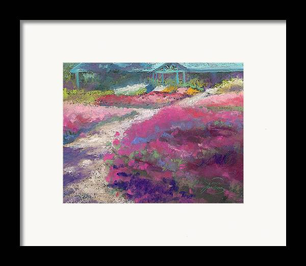 Landscape Framed Print featuring the painting Trial Gardens In Fort Collins by Grace Goodson
