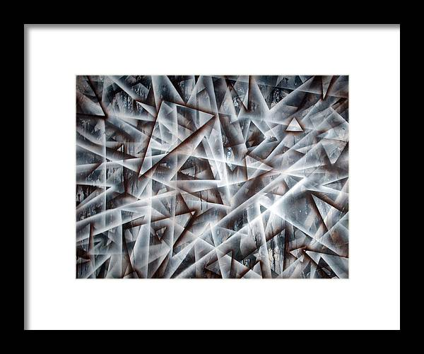 Triangle Framed Print featuring the painting Triangle 2 by Leigh Odom