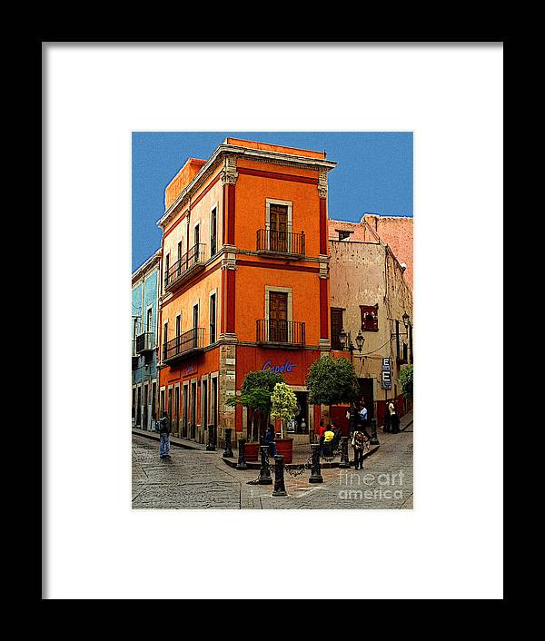 Enhanced Digital Image Framed Print featuring the photograph Triangle Corner by Mexicolors Art Photography