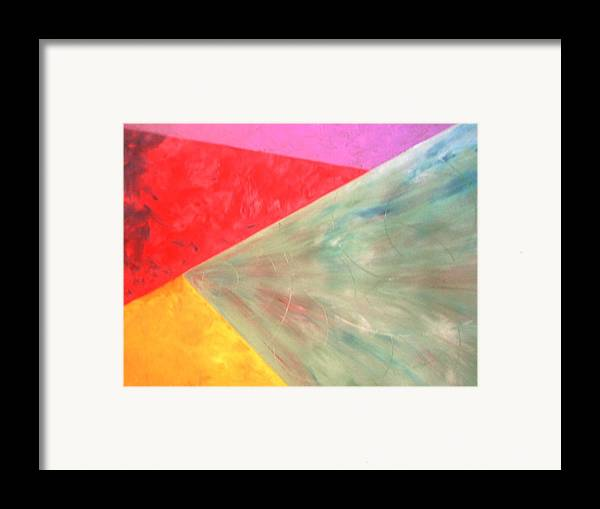 Geometric Art Framed Print featuring the painting Triangles by Guillermo Mason