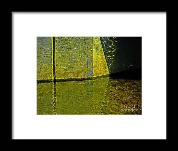 Geometric Framed Print featuring the photograph Triangles, Rectangles Lines And Refletcions by David Frederick