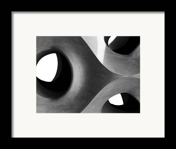 Black And White Framed Print featuring the photograph Triarchy by Alan Todd