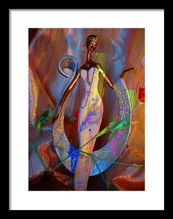 Framed Print featuring the digital art Tribal Evocative by Danielle Stephenson