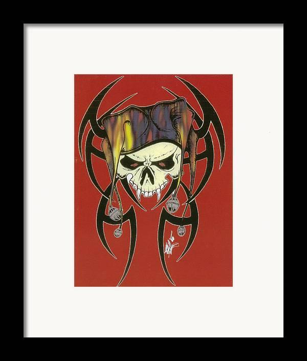 Skull Framed Print featuring the print Tribal Skull by Kimberly Morgan