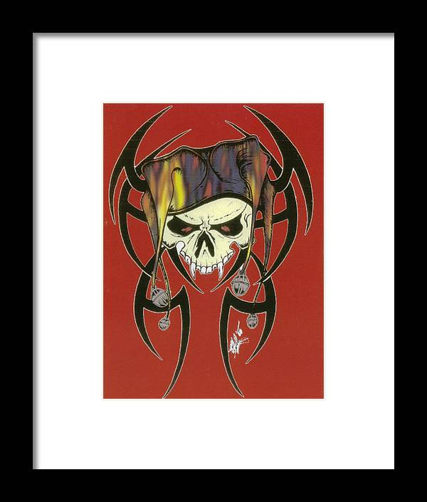 Skull Framed Print featuring the print Tribal Skull by Kimberly Morgan