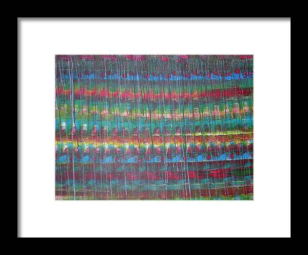 Abstract Framed Print featuring the painting Trickle II by Russell Simmons