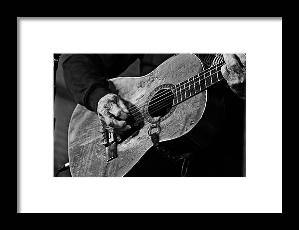 Willie Nelson And His Guitar Trigger. Framed Print featuring the photograph Trigger and Willie by Ty Helbach