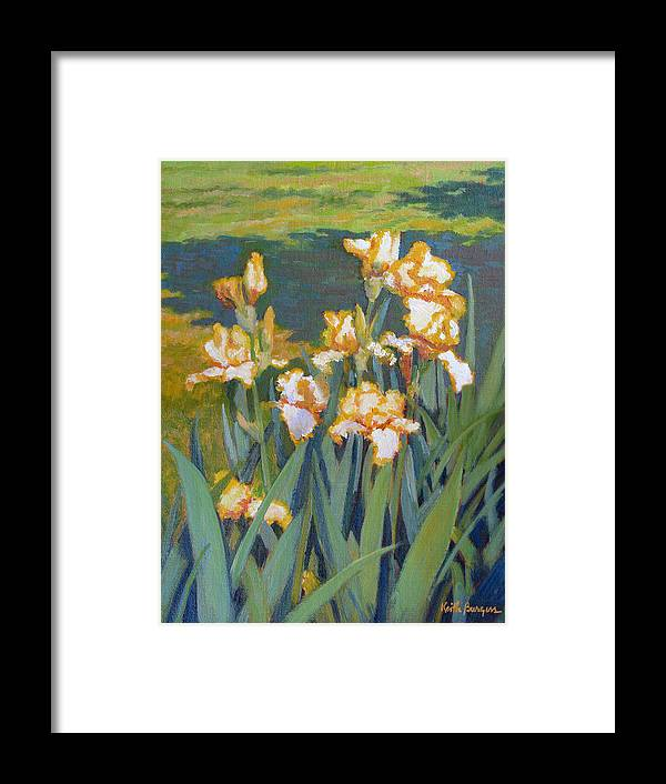 Impressionism Framed Print featuring the painting Trimmed In Gold by Keith Burgess