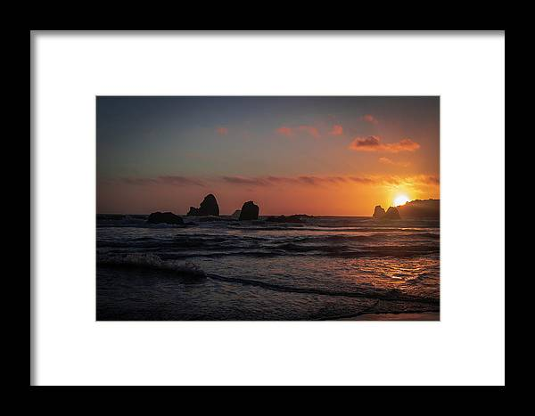 Humboldt Framed Print featuring the photograph Trinidad Sunset by Jillian Butolph