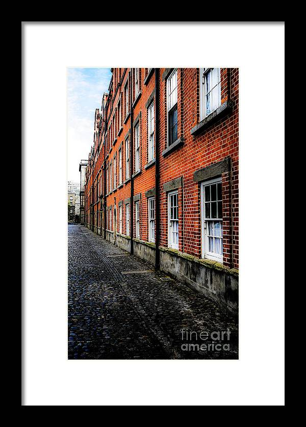 Magical Ireland Series By Lexa Harpell Framed Print featuring the photograph Trinity College Dublin Bulding by Lexa Harpell