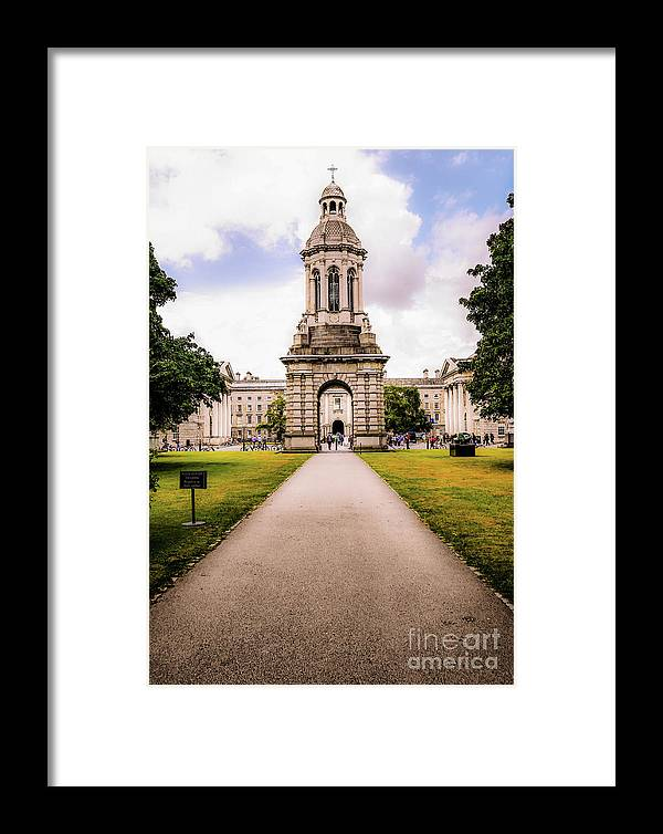 Magical Ireland Series By Lexa Harpell Framed Print featuring the photograph Trinity College Dublin by Lexa Harpell