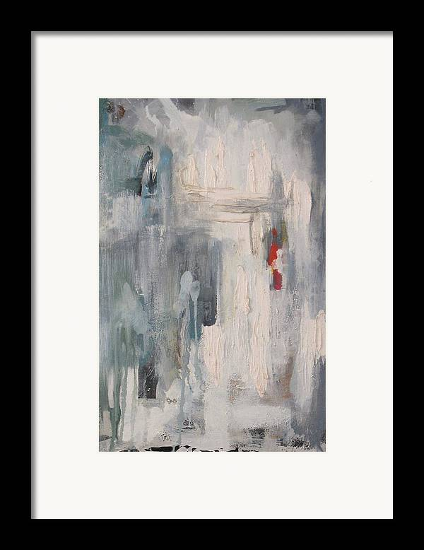 Abstract Framed Print featuring the painting Trinity by David McKee