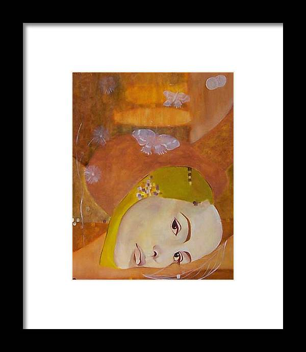 Figurative Framed Print featuring the painting Trio by Antoaneta Melnikova- Hillman