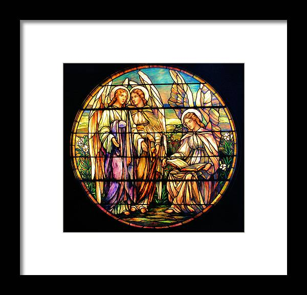 Angels Framed Print featuring the photograph Trio of Angels by Kristin Elmquist
