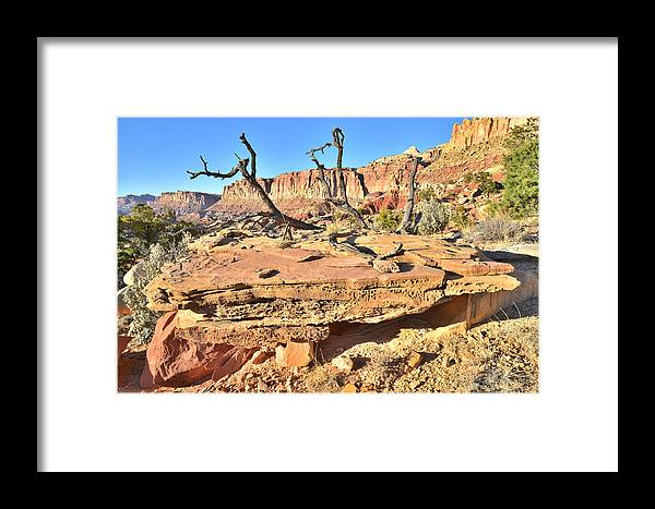 Capitol Reef National Park Framed Print featuring the photograph Triple Layer Cake by Ray Mathis