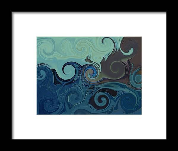 Ocean Framed Print featuring the digital art Trippy by Melanie Plummer
