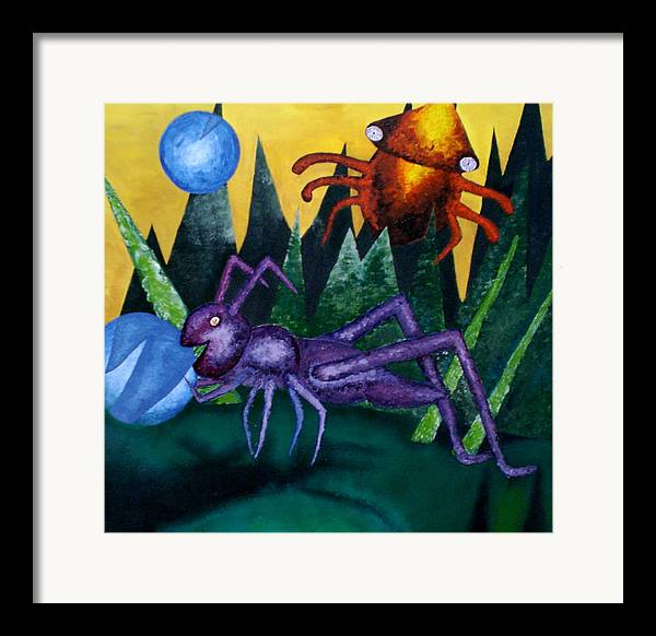 Bugs Framed Print featuring the painting Trippy Virgin by Kime Einhorn