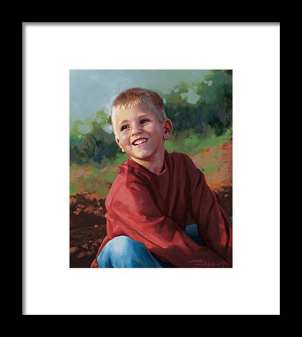 Portrait Framed Print featuring the pastel Tristan by Jean Hildebrant