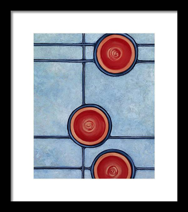 Circles Framed Print featuring the painting Triumph by Don Mullins