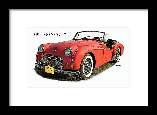 Triumph Tr3 Framed Print featuring the digital art Triumph by Larry Linton