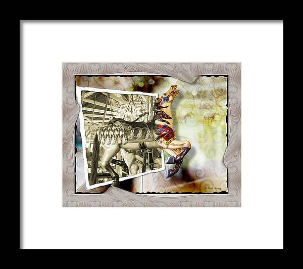 Carousel Horses Framed Print featuring the photograph Triumph by Susan Kinney