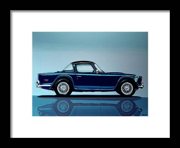 Triumph Tr5 Framed Print featuring the painting Triumph Tr5 1968 Painting by Paul Meijering
