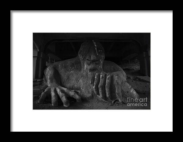 Aurora Framed Print featuring the photograph Troll Under Bridge by Jim Corwin