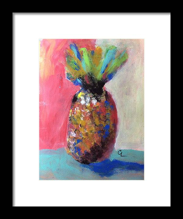 Pineapple Framed Print featuring the painting Tropical Candy by Carol Loethen