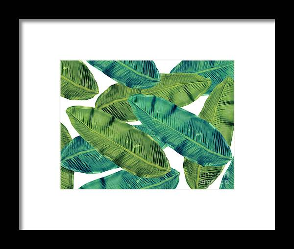 Summer Framed Print featuring the digital art Tropical Colors 2 by Mark Ashkenazi