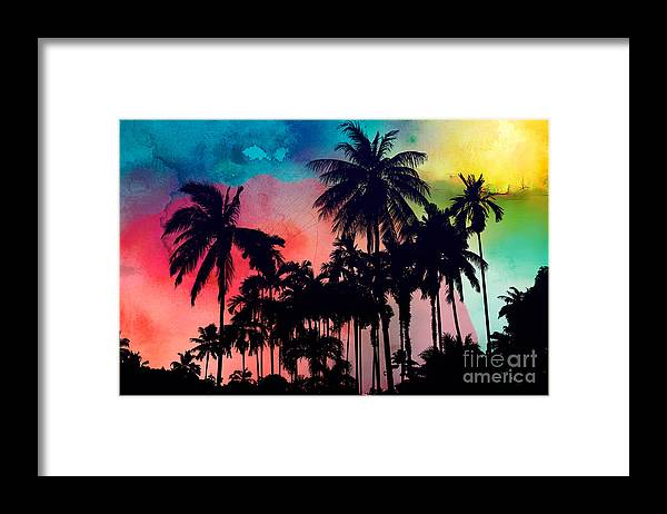 Framed Print featuring the painting Tropical Colors by Mark Ashkenazi