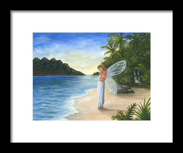 Fairy Framed Print featuring the painting Tropical Fairy by Anne Kushnick