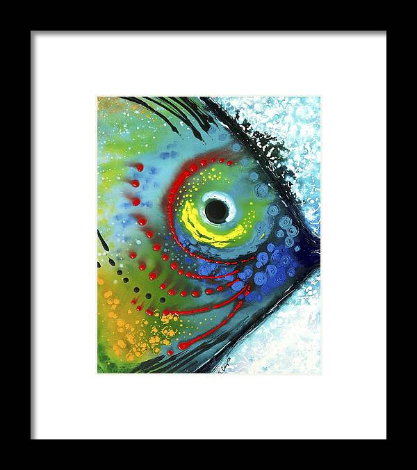 Animals Art Framed Print featuring the painting Tropical Fish by Sharon Cummings