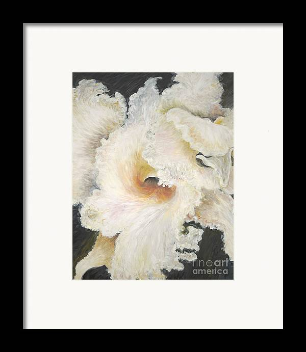 Flower Framed Print featuring the painting Tropical Flowers by Nadine Rippelmeyer